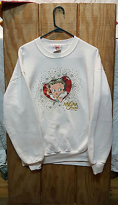 Vintage 1995 MGM Grand Betty Boop White Exclusive Sweater XL