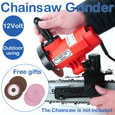 Powerful 12V 85W CHAINSAW SHARPENER Chain Saw Electric Grinder File Pro Tool AU