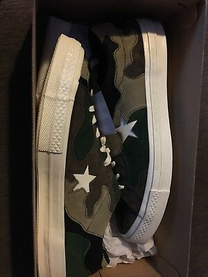 Converse x SNS One Star Camo SIZE 11 Green Brown Suede Sneakers 'n Stuff DS