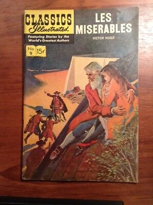 Vintage Les Miserables Victor Hugo Comic 9 Classics Illustrated nice overall con