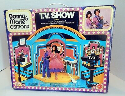 Donny & Marie Osmond TV Show Playset Never Used In Original Box Vintage Rare!