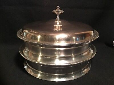 Vintage Military Communion Trays Silverplate