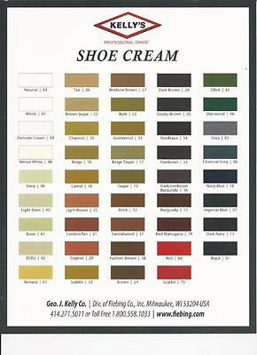 Kelly's Shoe Cream- Professional Grade (multiple colors)
