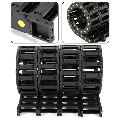 4Piece 1m Cable chain Wire carrier chain Drag chain Nylon CNC tool 25x77mm Black