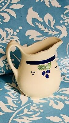 HARTSTONE POTTERY for L.L. BEAN - BLUEBERRY CREAMER SMALL PITCHER