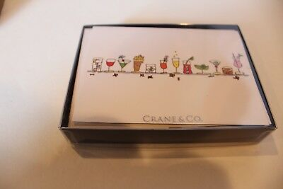 NWT 10 Crane & Co. Cocktail note cards