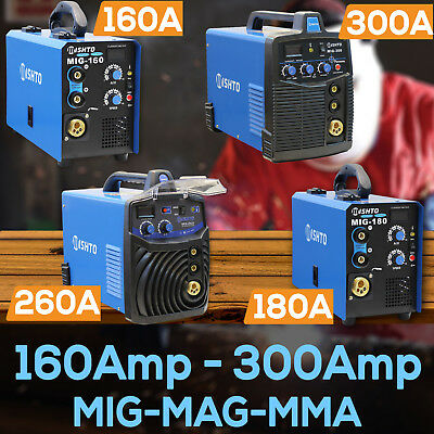 160Amp, 180Amp, 260Amp, 300Amp MIG MAG ARC Gas/Gasless Portable Inverter Welder