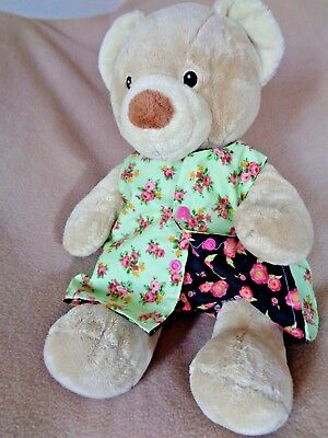Clothes to fit girls Build a Bear Pumpkin Patch teddy reversible dress/pants set