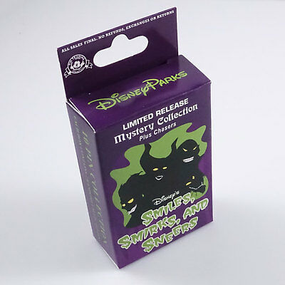 Disney trading Villains Smiles Smirks Sneers mystery set box 2 pins NEW SEALED