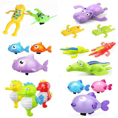 New Cute Baby Kids Bath Toy Clockwork Wind Up Plastic Swimming Pool Bath Toy