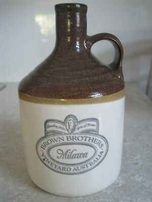 Vintage Stoneware Brown Brothers Milawa Vineyard Australia Bottle Jug Decanter