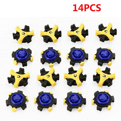 14x Replacement Golf Shoes Spikes Studs Cleats Fast Twist For Tri-Lok Footjoy UK