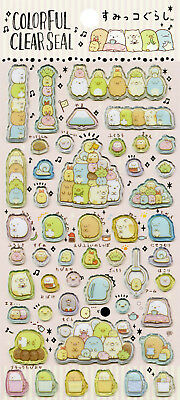 "San-X Sumikko Gurashi ""Colorful Clear Seal"" Stickers (Pink)"