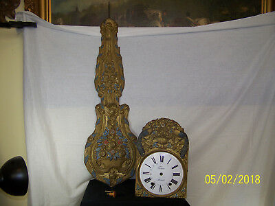 Antique c1860's Genuine French Morbier Comtoise Wall Clock