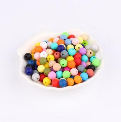 DIY 10X Food  Silicone loose Beads Baby Teether Pacifier chain  Accessories