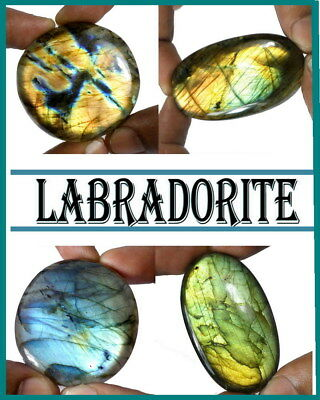 740 Ct+/4 Pcs Natural Multi Color Shine Spectrolite Labradorite Mix Cab Gem Lot
