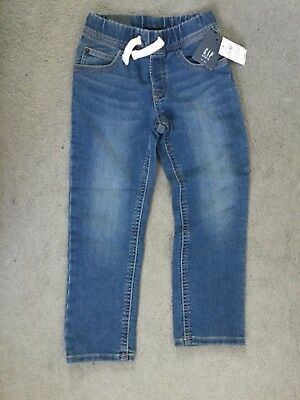 Gap Blue Soft Jeans With Elasticated Waistband & Drawstring With Slim Leg -Bnwt