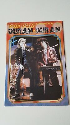 Duran Duran UK Poster Magazine - Pop Pow No22  *RARE*