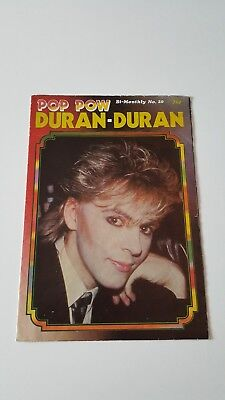 Duran Duran UK Poster Magazine - Pop Pow No20  *RARE*