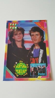 Duran Duran UK Poster Magazine - Pop Pow No18  *RARE*
