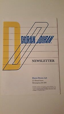 Duran Duran Vintage 1980s UK Fan Club Newsletter - France 1983 (no flexidisc)