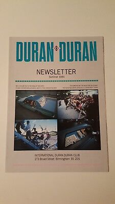 Duran Duran Vintage 1980s UK Fan Club Newsletter - Summer 1984