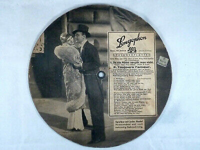 Longophon Bildplatte / Picture Disc, Dolly Haas u. Willy Forst, So ein Mädel ...