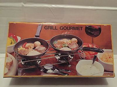 Grill Gourmet Quirky Double Candle Tea Light Food Warmer - Mini Saucepans Dining