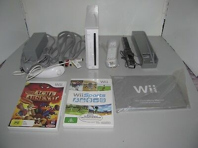 Nintendo Wii White Console With Games Tested And Working