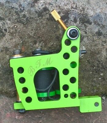 Border Tattoo Machine,colour-Packer Custom Iron Green Frame Custom 8 Layer Coils