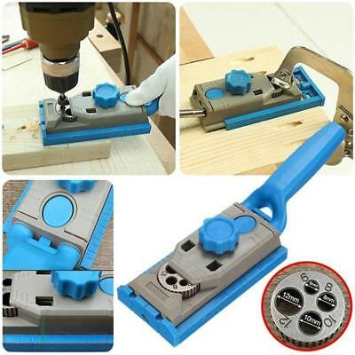 Pocket Hole Drill Guide Dowel Jig Step Drill Bit Kit Woodworking Joint Cutter UK