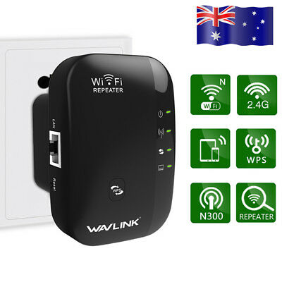 Wavlink 300Mbps Wifi-Repeater 802.11 Wireless Range Extender&Signal Booster - AU