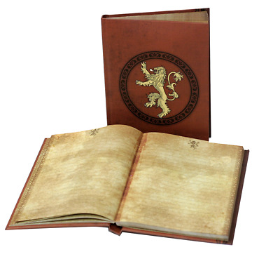 Game Of Thrones Lannister Notebook W/ Lt
