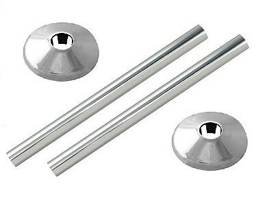 2 X New Chrome Radsnaps Radiator Pipe Covers + Collars - Free Uk Delivery