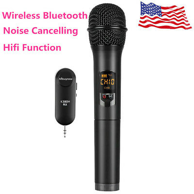 Wireless Bluetooth Karaoke Stereo Handheld Microphone Mic KTV USB Speaker Player