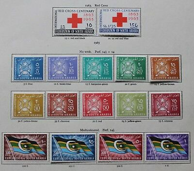 Federation of South Arabia 1963-67 4 sets Mounted Mint