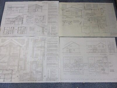 18 x Architect Drawings / Plans / Technical Drawings - Display, Collectable