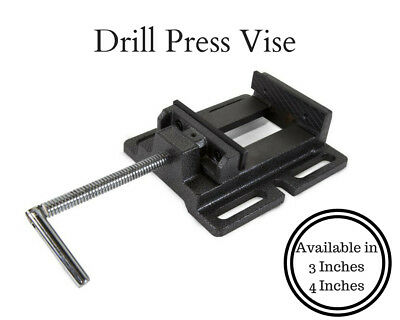 Heavy Duty 3 in. 4 in. Drill Press Vise Durable Metal Industrial Strength Clamp