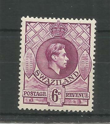 SWAZILAND 1938 GEORGE 6TH 6d DEEP MAGENTA SG,34 M/MINT LOT 8294A