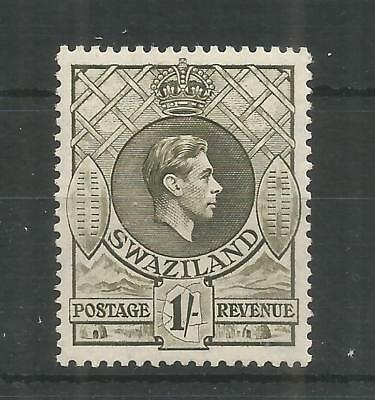 Swaziland 1938 George 6Th 1/- Brown-Olive Sg,35 M/Mint Lot 8296A