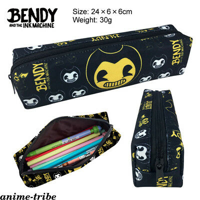 Bendy and the ink machine Zipper Pencil Case Student Pen bag Canvas Cosmetic Bag