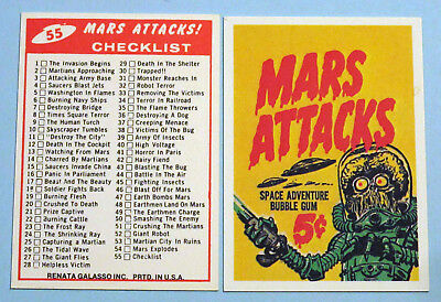 Complete NM/M (56) 1984 Mars Attacks Renata Galasso Reprint Set