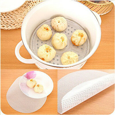 New Non-Stick Round Dumplings Mat/Silicone Steamer Mesh/Pad Kitchen Tool CB