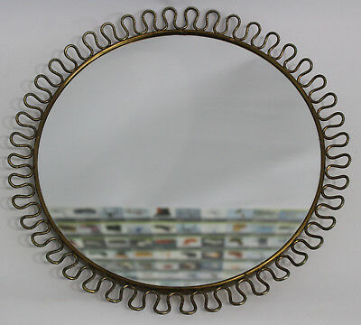 50er Design Schlaufen Spiegel Josef Frank zuges. Wall Mirror 50s Sweden Messing