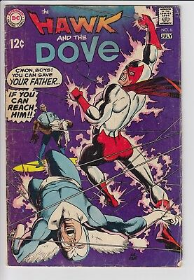 Hawk & Dove 6 Silver Age DC Gil Kane 60s Teen Titans JLU RARE Later Issue GD+