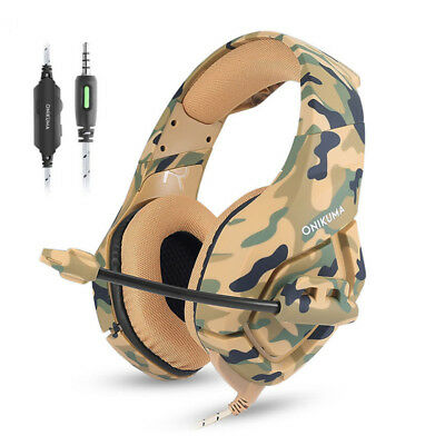 Camouflage PS4 Headset Bass Gaming Headphones with Mic for PC New Xbox One