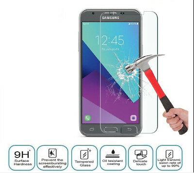 100% GENUINE TEMPERED GLASS FILM SCREEN PROTECTOR FOR Samsung Galaxy J3 2017,J5