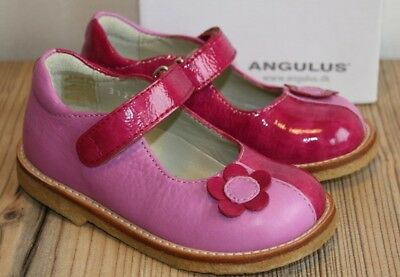 d1e66569 ANGULUS GIRLS PINK Leather Shoes 3128 Various Sizes BNIB - £22.99 ...