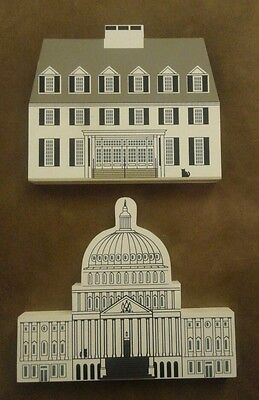 Set of 2 Cats Meow Village Washington DC Capitol Woodstock Inn Resort Cat's Lot
