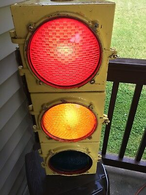 Vintage ECONOLITE Traffic Signal wired for house use MAN CAVE NR